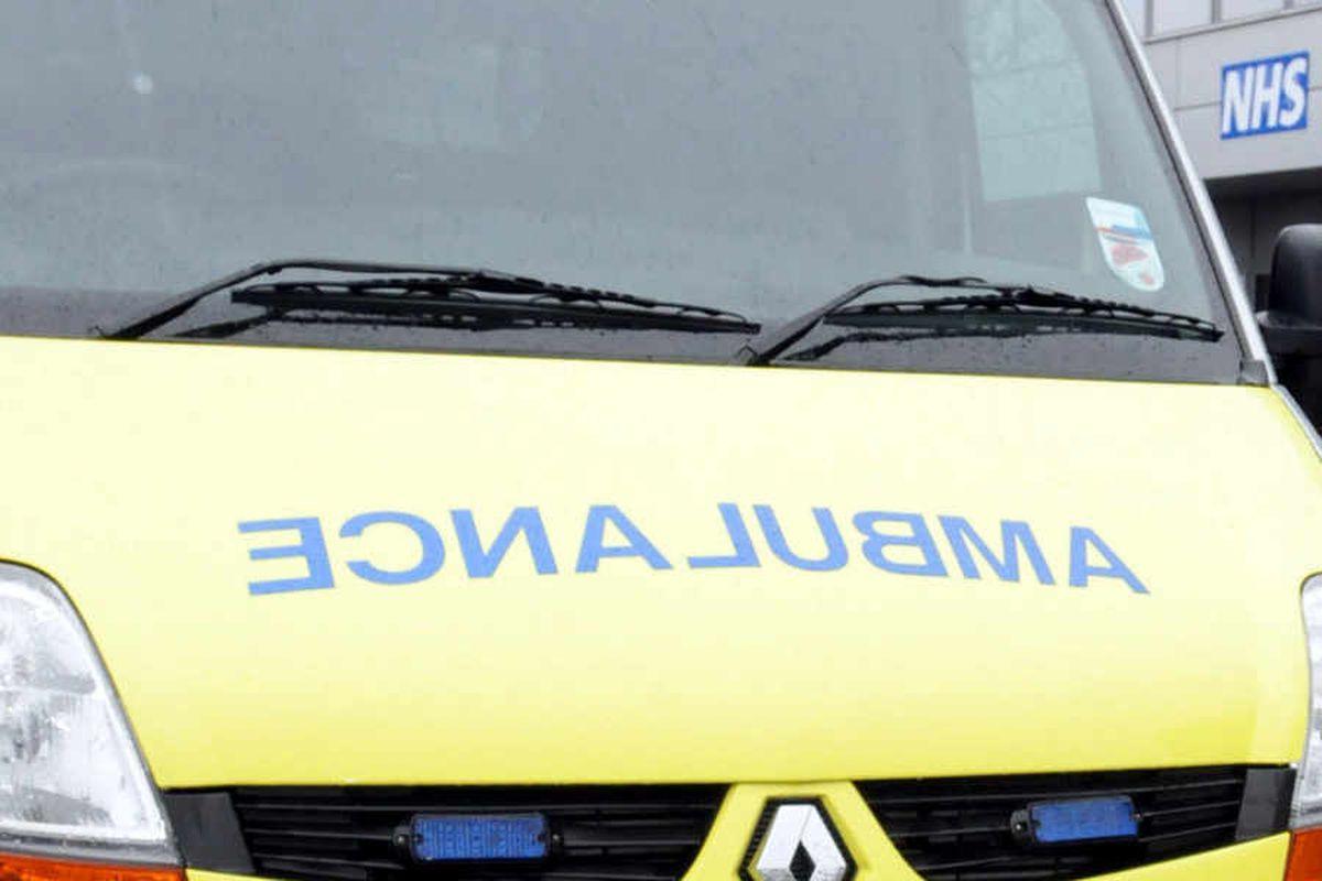 Two injured in Shrewsbury collision
