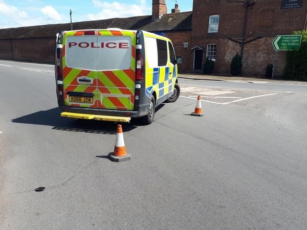 Woman cut free after crash near Market Drayton