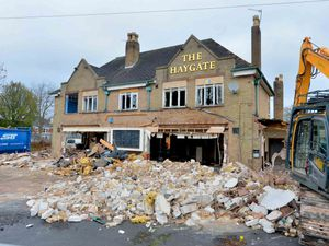 LAST COPYRIGHT SHROPSHIRE STAR STEVE LEATH 11/01/2019..Pics in Wellington, Telford,  Haygate Road and The Haygate pub is being demolished..