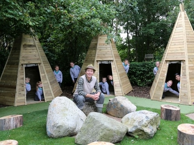 Secret garden at Telford School unveiled with the help of CBeebies' Mr Bloom