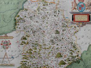 The first ever map of Shropshire up for sale