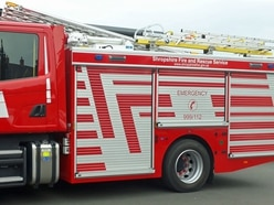 Crews tackle large barn fire near Oswestry