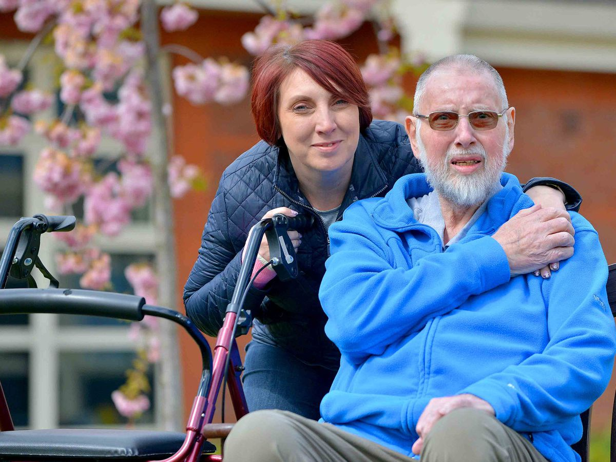 Colin Allinson, 72, from Leegomery with his daughter Sylvia Piper