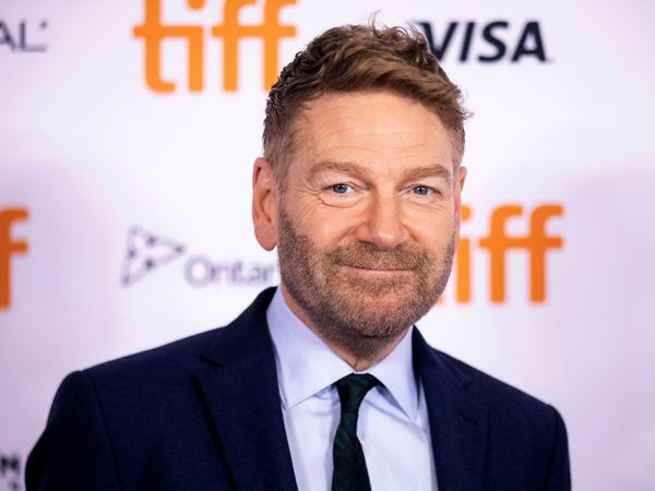 Kenneth Branagh on the red carpet at the Toronto International Film Festival