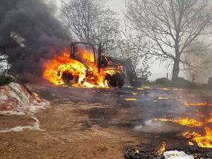 Tractor fires in Shrewsbury and Clun