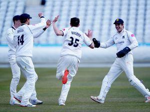 Warwickshire's Will Rhodes celebrates.