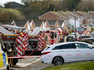 Emergency crews at Severn Way, in Cressage