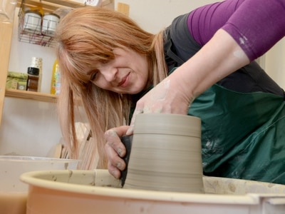 Georgina is potty about pottery at British Ironworks Centre