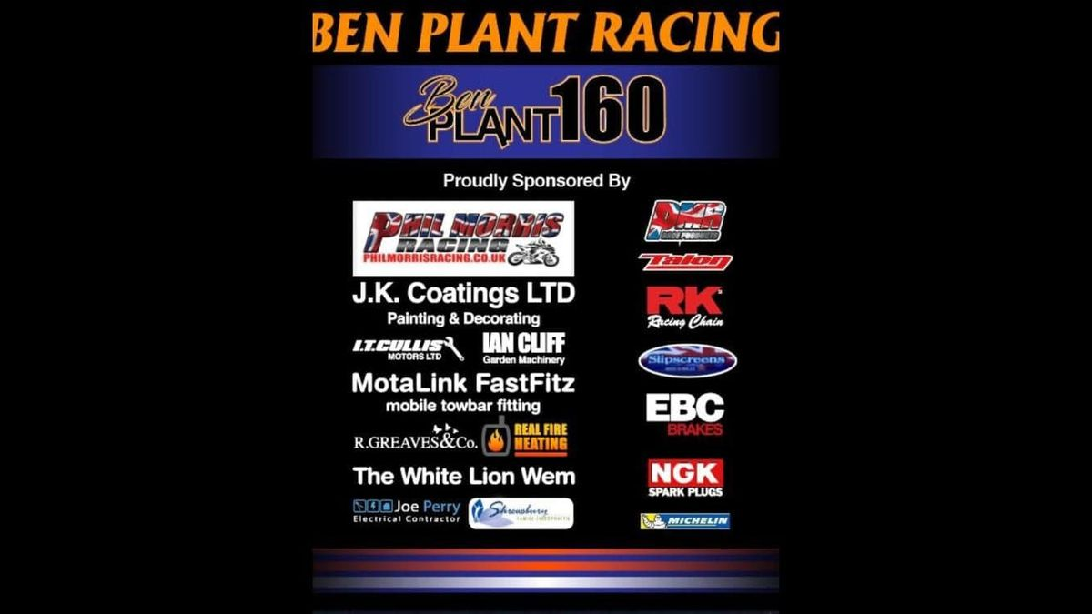 Ben Plant has praised his sponsors for their continued support