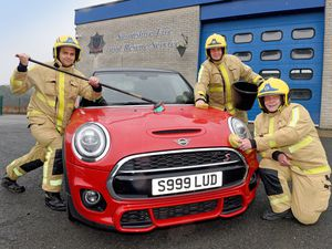 Olie Powis, Martin Owen and Sam Nicholas get ready for the car wash in Ludlow