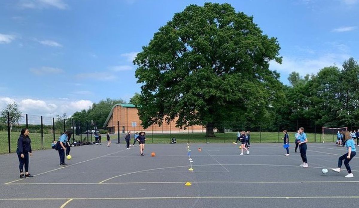 Charlton School students taking part in the secondary school WellbeingWeek activities