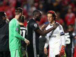 Romelu Lukaku was on hand to console the Champions League's youngest goalie after his debut howler