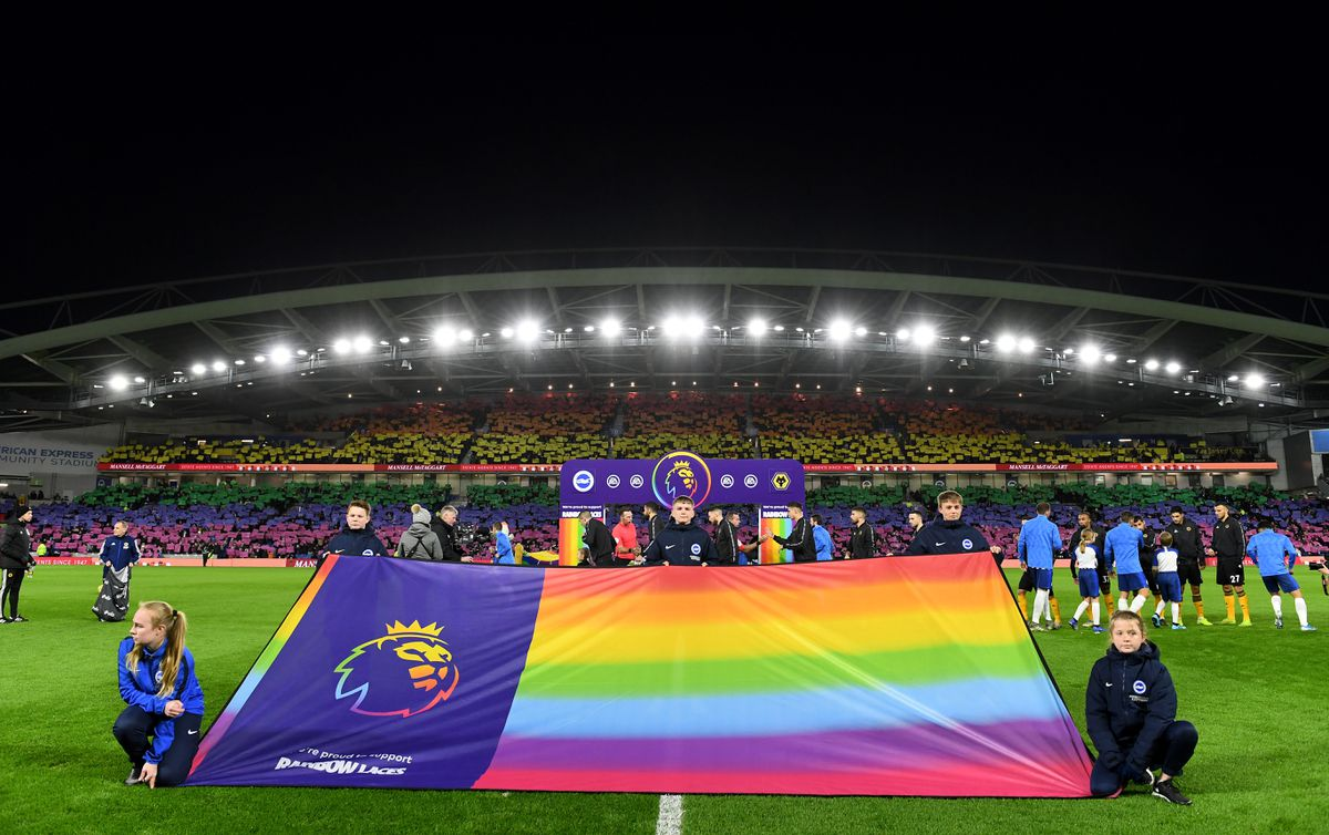 The Premier League supported the Rainbow Laces campaign this weekend. Photo: AMA