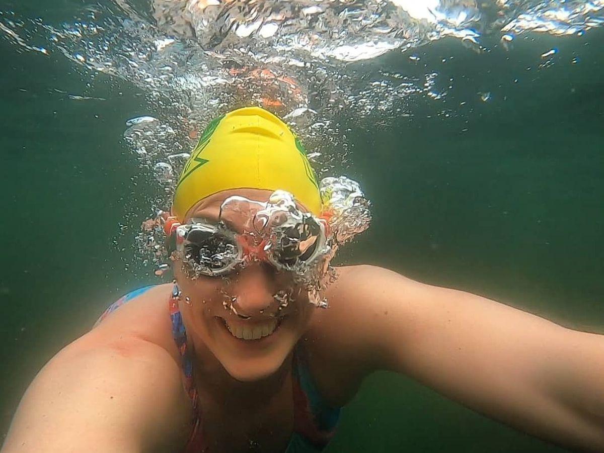Open water swimming coach Harriet Ballantyne