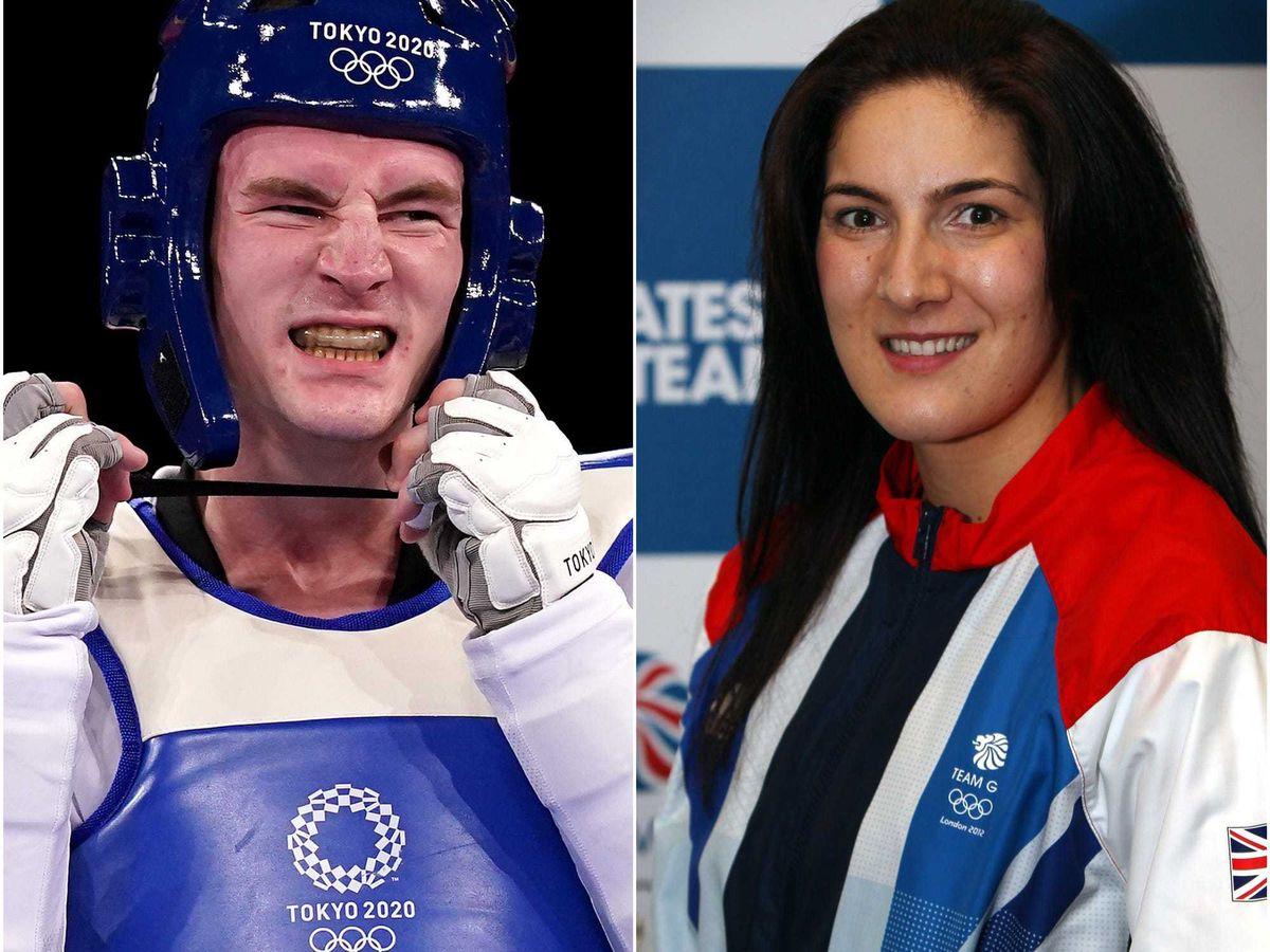 Bradly Sinden and Sarah Stevenson
