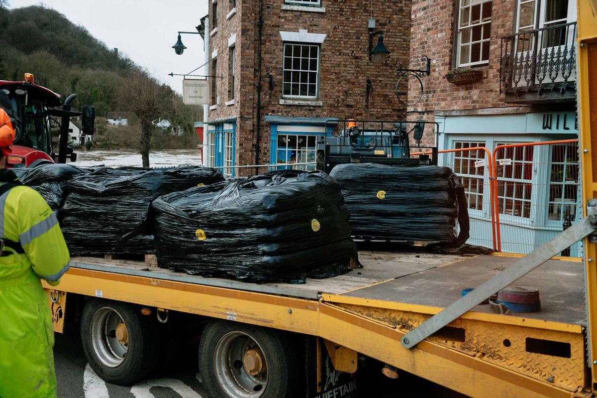 Flooding in Ironbridge on Tuesday