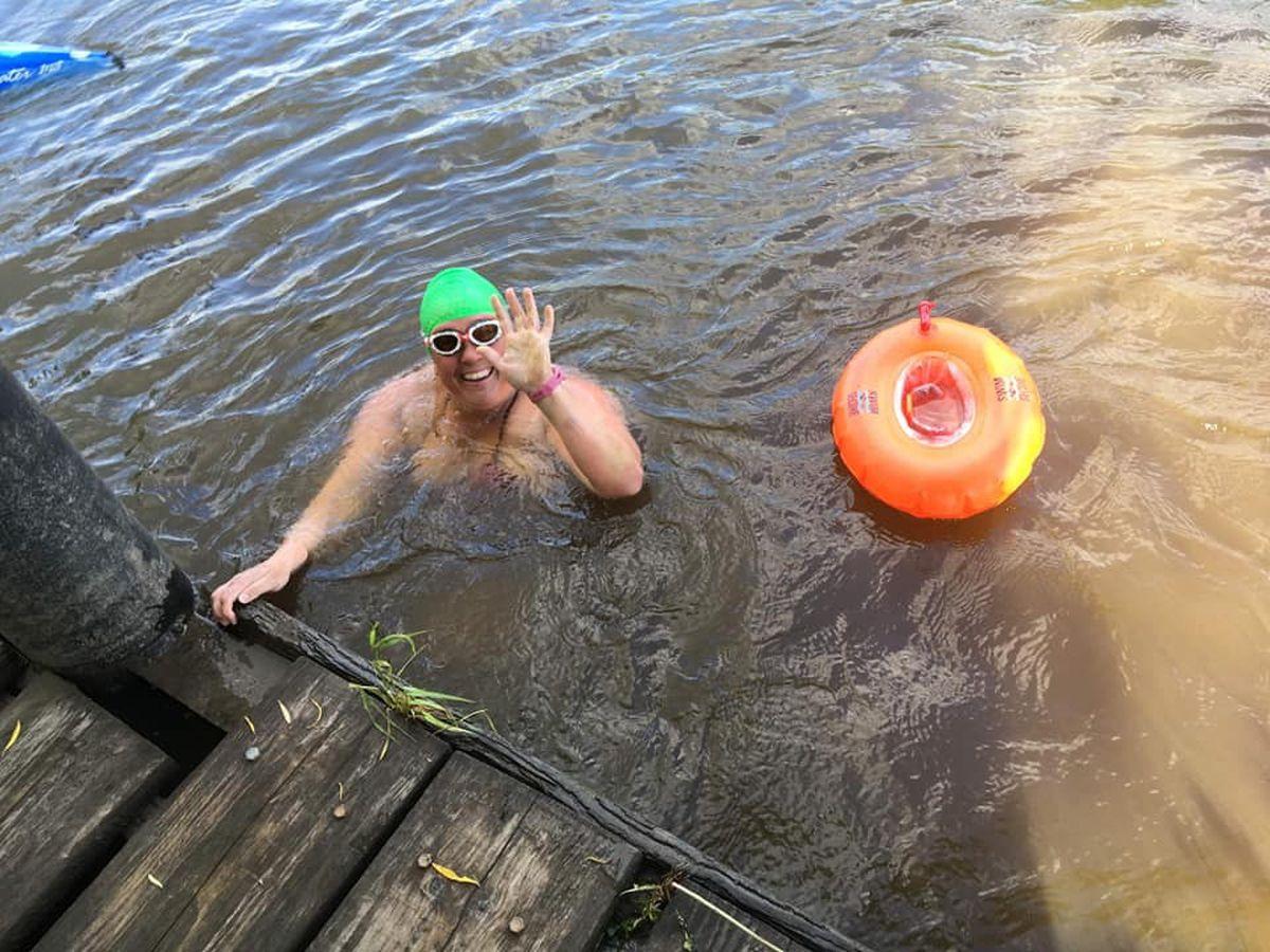 Melissa during her River Severn challenge