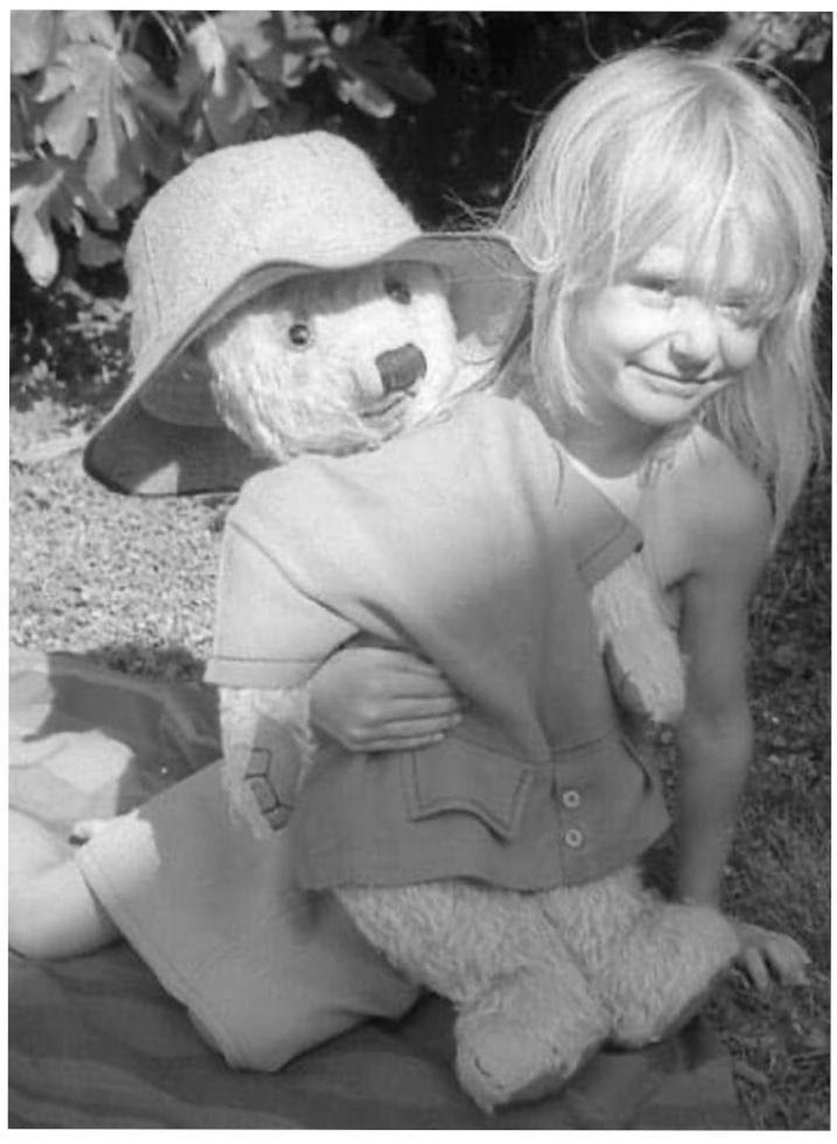Cat from New Zealand with her Merrythought, Ted, in 1979
