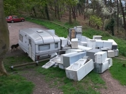20 fridges and a CARAVAN dumped at Shrewsbury beauty spot