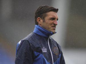 Sam Ricketts the head coach / manager of Shrewsbury Town.