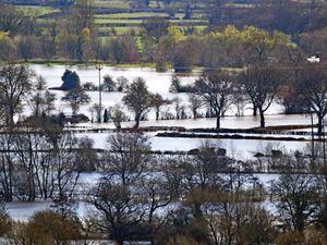 Farmland under water at Llanymynech