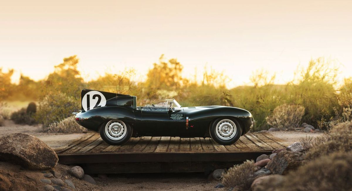 This Jaguar driven by Shropshire's Norman Dewis at Goodwood could fetch £11 million. Picture credit: Patrick Ernzen © 2017 Courtesy of RM Sotheby's