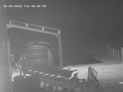 Caught on CCTV: Trespassers cause damage to farm buildings near Cleobury Mortimer