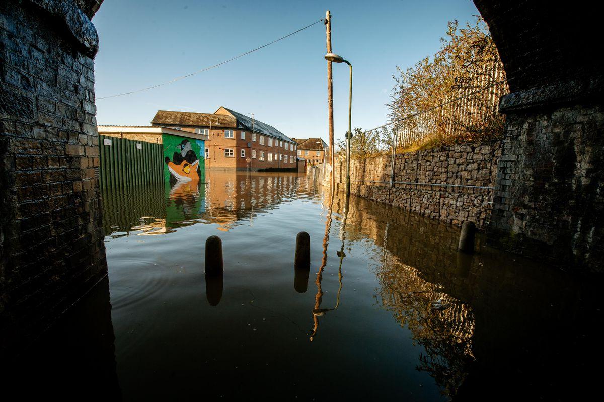 Flooding in Coleham, Shrewsbury