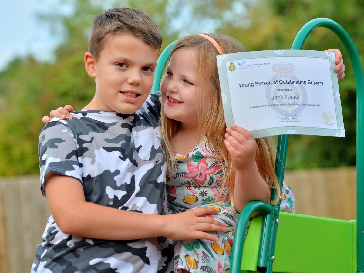 Jack Jones helped save the life of his little sister Poppy