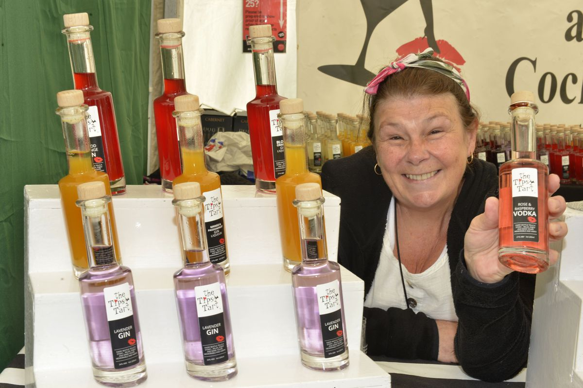 Elizabeth Grinkier from Ludlow at the Telfood Festival
