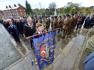 The Shrewsbury Remembrance parade