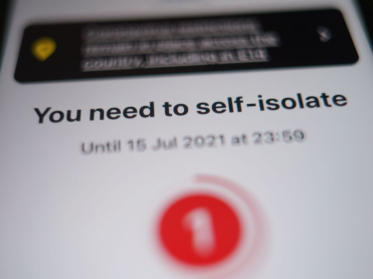 A message to self-isolate
