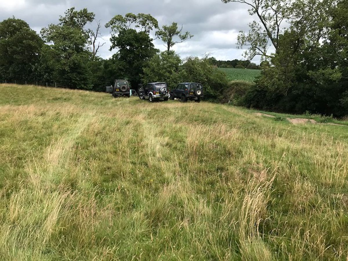 Several off road vehicles were photographed on a stretch of river in south Shropshire