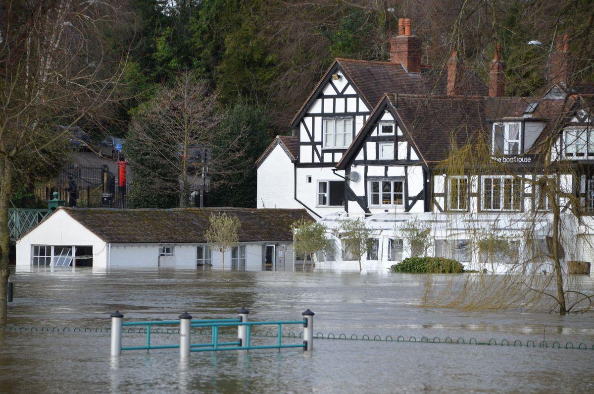 Flooding in Shrewsbury. Pic: Sarah Stanley