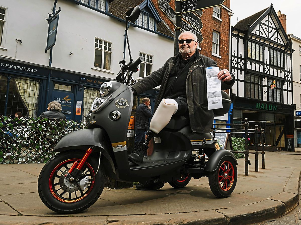 Alan Briscoe had been savouring a post-lockdown pint in the sunshine when a traffic warden fined him for having no blue badge
