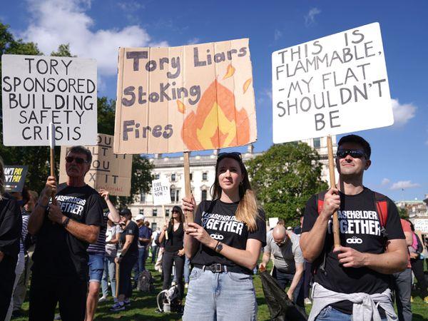 Cladding leaseholders rally