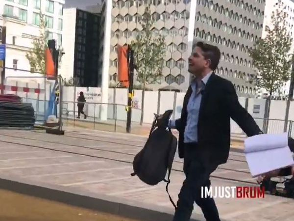 ITV Central reporter Callum Watkinson became furious with the man. Image: imjustbrum