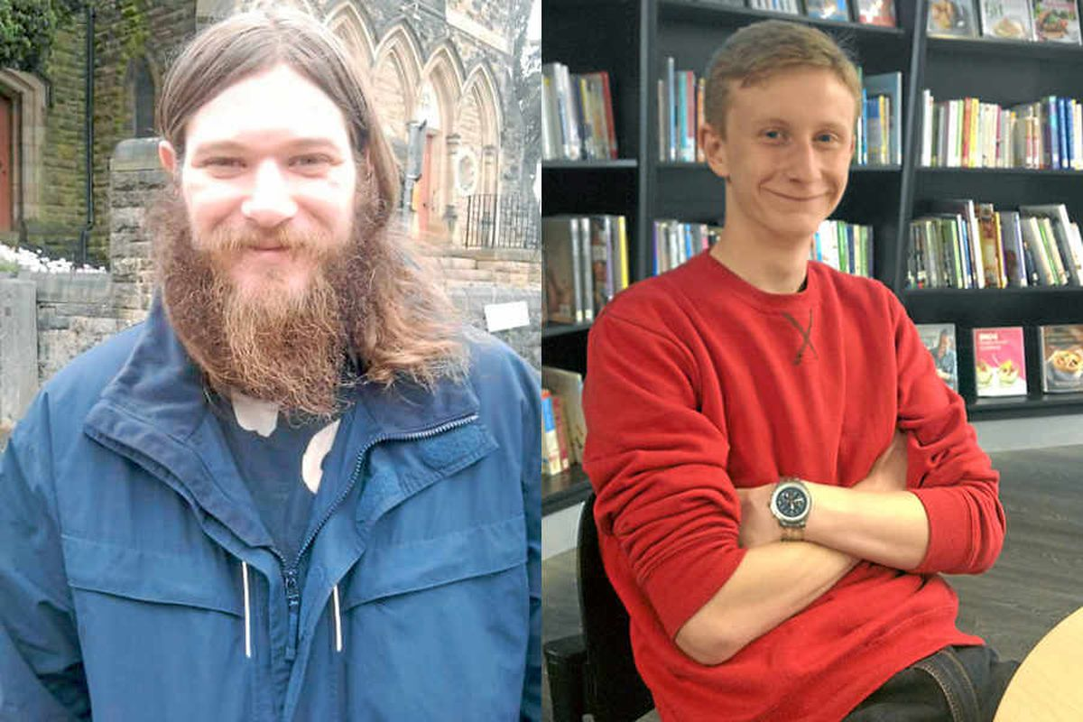 Liam Stewart, who uses the library for job hunting, and student Tom Peplow, who welcomed a relaxation of the rules