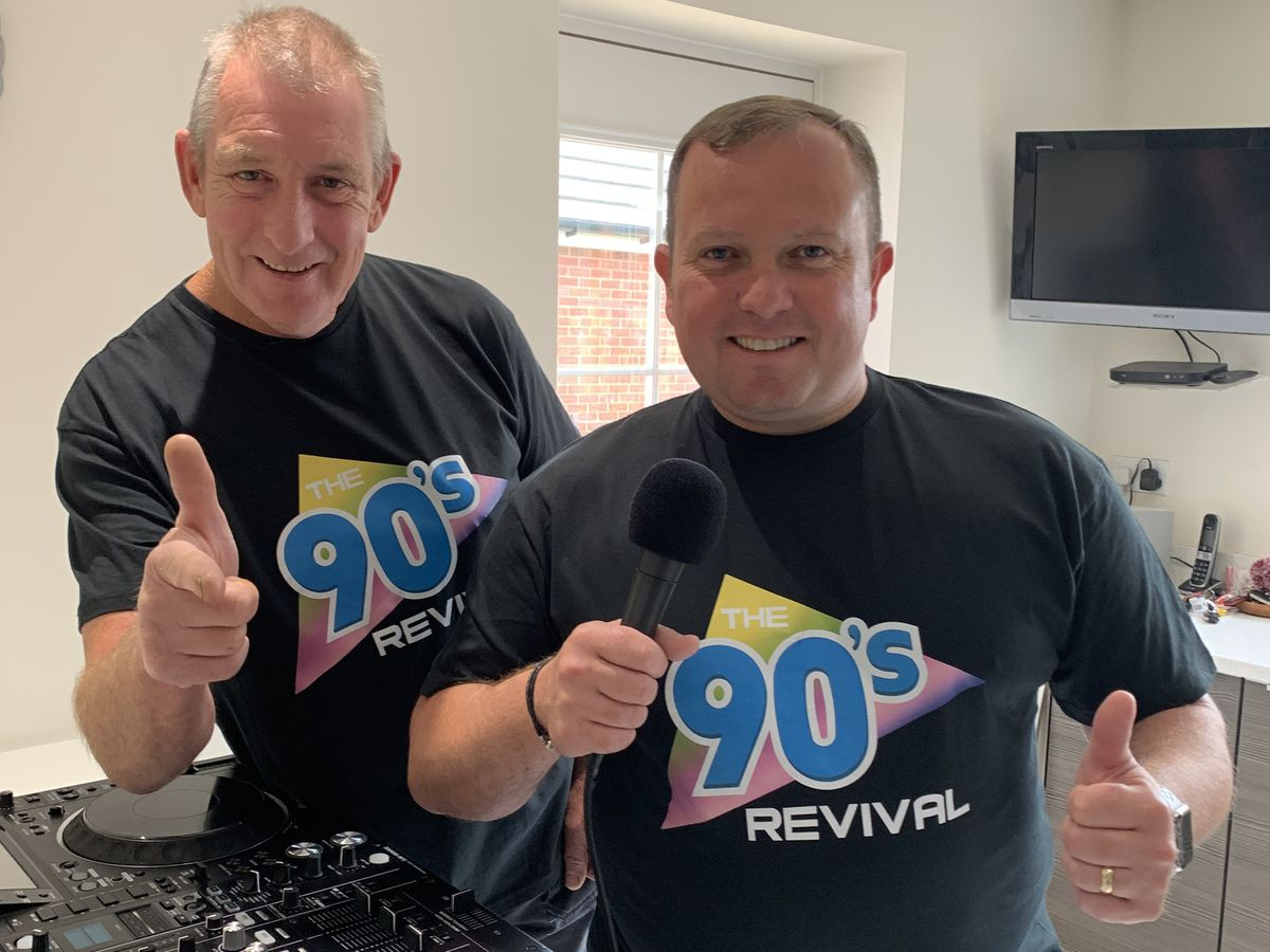 Dave and Benno hosting a set from their kitchen