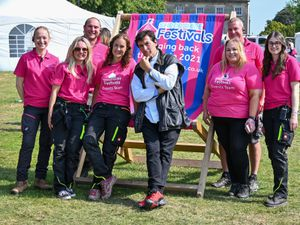 The Shropshire Festivals team with celebrity chef Jean-Christophe Novelli