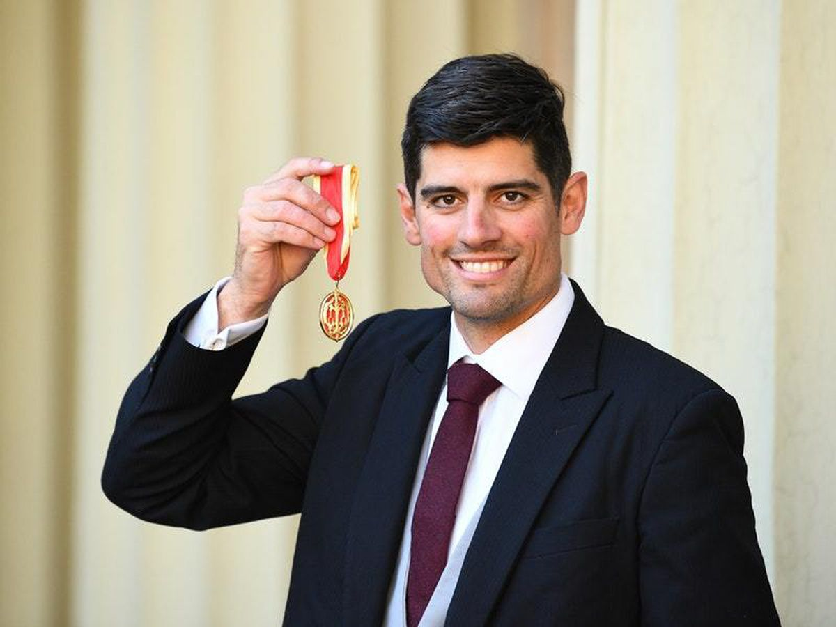 Sir Alastair Cook following an investiture ceremony at Buckingham Palace