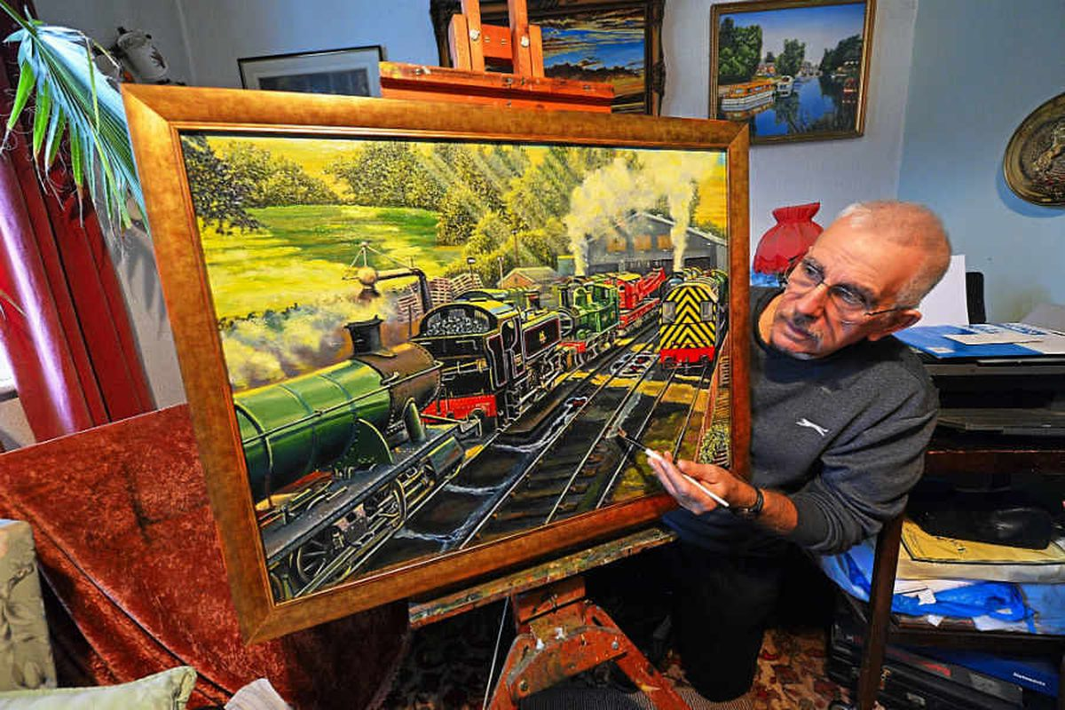 Rail enthusiast auctions art for Severn Valley Railway