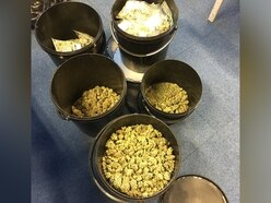 £12,000 cannabis stash found in buckets at Telford house - with pictures