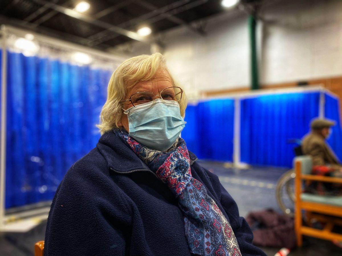 Hefina Anwyl was vaccinated this week