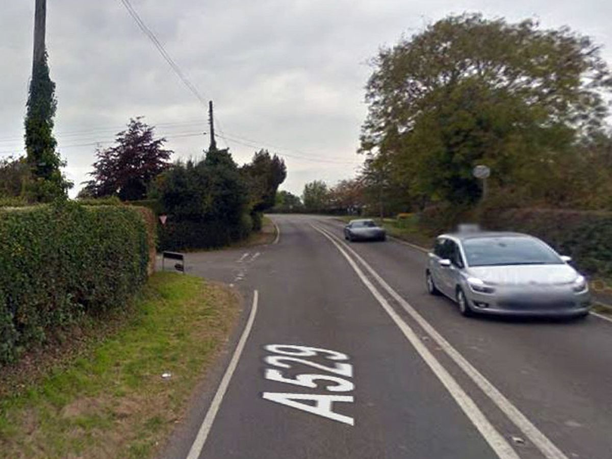 The A529, which runs between Hinstock and Audlem, near Market Drayton. Photo: Google StreetView