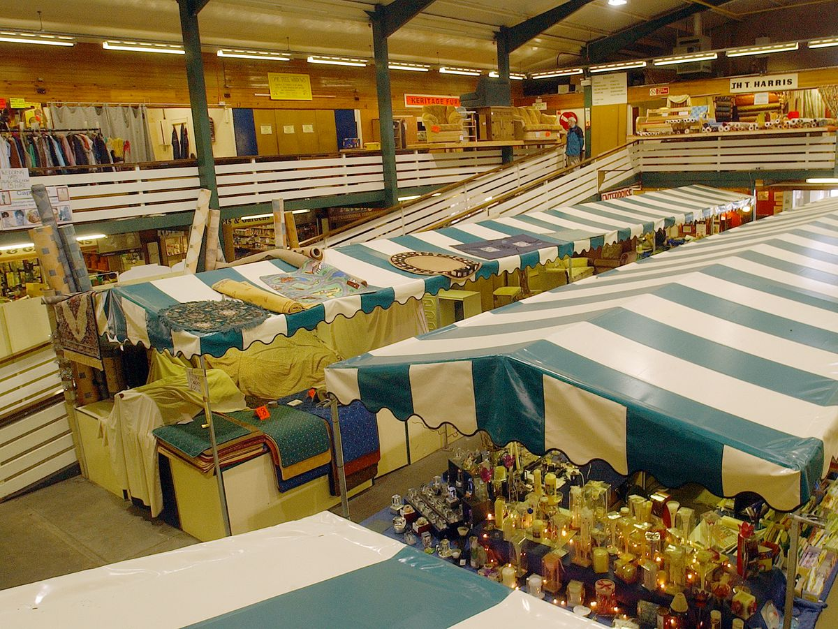 Oswestry's indoor market. FEATURE PIC FOR TRACEY..