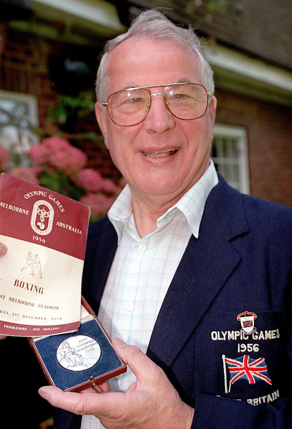 The Shropshire boxing legend with some of his memorabilia