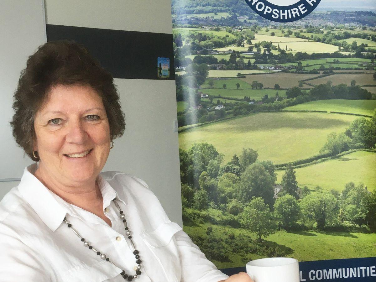 Julia Baron, CEO of Shropshire RCC, looks forward to the virtual coffee morning.