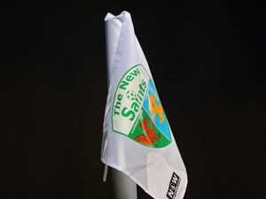A general view of a corner flag at Park Hall