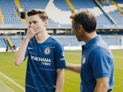 Surprise Zola meeting for Chelsea-mad cancer survivor from Telford - WATCH